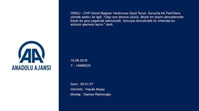 CHP Genel Başkan Yardımcısı Torun - Suruç'ta AK Parti'lilere yönelik saldırı - ORDU