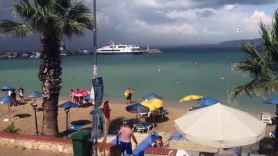 salda - İzmir'de tatilcilere yağmur sürprizi