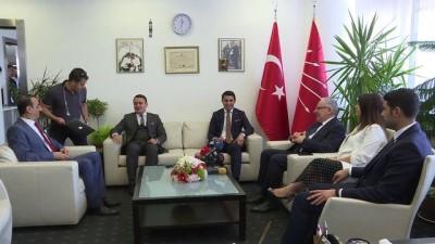 Siyasi partilerde bayramlaşma - SP heyetinden CHP'ye ziyaret - ANKARA