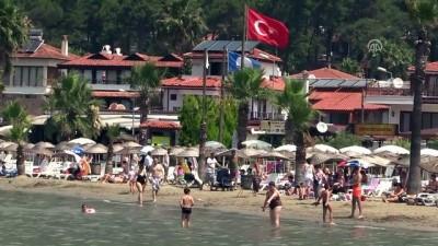 Bayram tatili bitti, sahiller yabancı turistlere kaldı - MUĞLA