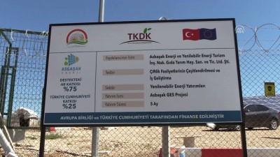 TKDK desteğiyle 'güneş enerjisi tarlası' kurdu - AMASYA