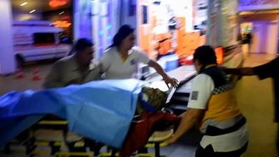 100 metre uçurumdan yuvarlanan kadının ayağı kırıldı
