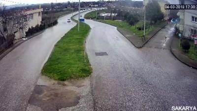 Sakarya'daki kazalar KGYS kameralarına yansıdı