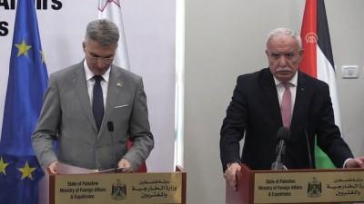 Filistin ve Malta dışişleri bakanları görüştü (2) - RAMALLAH