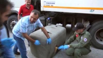 Şüphe üzerine durdurulan tırın yedek yakıt deposundan 125 kilo eroin çıktı