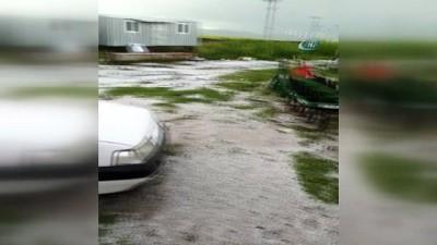 Ardahan'da sağanak ve dolu tarım arazilerine zarar verdi