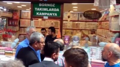 Bursa'da CHP'li milletvekili adaylarına esnaftan tepki