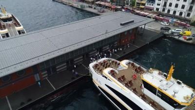 Hizmete başlayan Karaköy İskelesi havadan görüntülendi