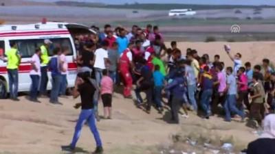 İsrail askerleri Gazze sınırında 14 Filistinliyi yaraladı (1) - GAZZE