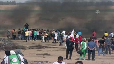 İsrail askerleri Gazze sınırında 14 Filistinliyi yaraladı (2) - HAN YUNUS