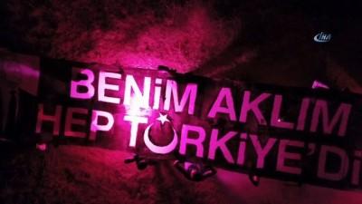 MHP'li Taşdoğan ve beraberindeki ülkücülerden 3 hilal kareografisi ile Devlet Bahçeli'ye sürpriz