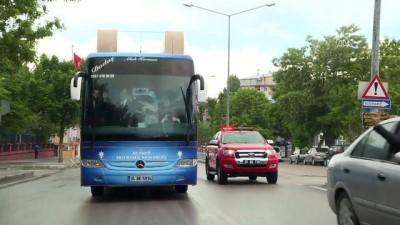 Başbakan Yardımcısı Akdağ, seçim otobüsüyle vatandaşları selamladı - ERZURUM