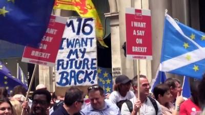 Brexit karşıtı gösteri - LONDRA