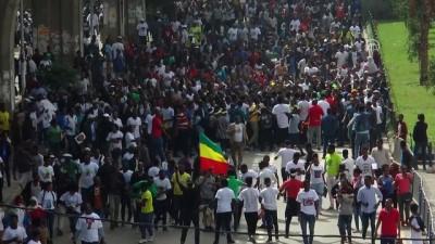 Etiyopya Başbakanı Abiy Ahmed'e destek gösterisi - ADDİS ABABA