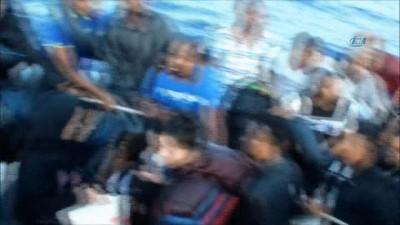 Kaçak göçmenler denizin ortasında böyle yakalandı