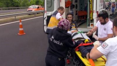 Anadolu Otoyolu'nda trafik kazası: 1 ölü, 8 yaralı - DÜZCE