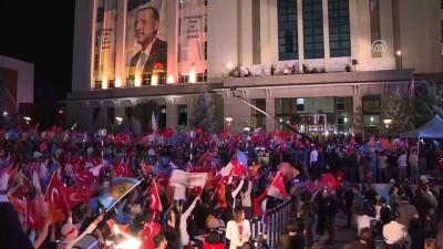 Cumhurbaşkanı ve AK Parti Genel Başkanı Erdoğan, AK Parti Genel Merkezi'ne geldi - ANKARA