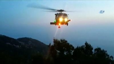 Paraşüt kazasında yaralanan turist askeri helikopterle kurtarıldı