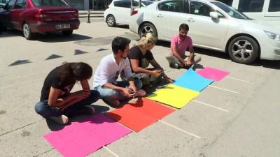 grup genc - CHP'li gençlerden oturma eylemi - ANKARA