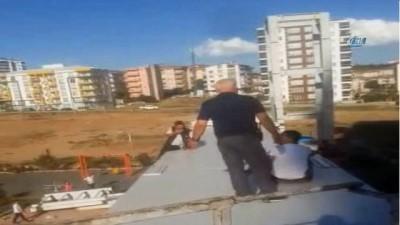 Kırıkkale'de üst geçitte intihar girişimi