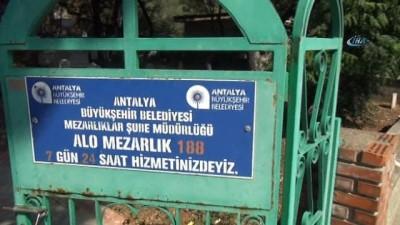 Mezarı tahrip edip ' Bu iş bitmedi' mesajını yazan şüpheli yakalandı