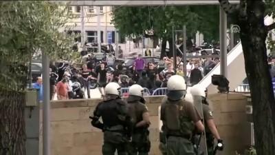 ses bombasi - Yunanistan'da 'Makedonya anlaşması' protestosu - SELANİK