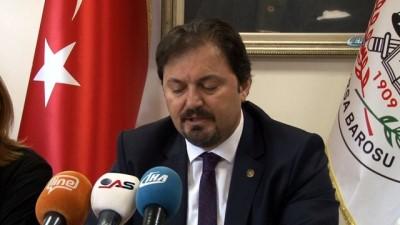 Bursa Barosu Başkanı Gürkan Altun, Cargill davası ile ilgili basın açıklaması yaptı