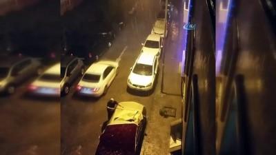 İstanbul'a dolu böyle yağdı