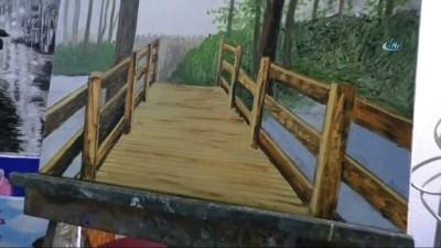 Kırşehirli ressam Ziya Hacıoğlu: 'Sanatla yetişen bireyler faydalı bireyler olur'