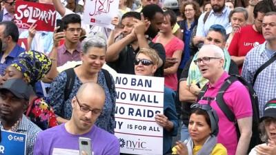 Trump'ın seyahat yasağı protesto edildi - NEW YORK