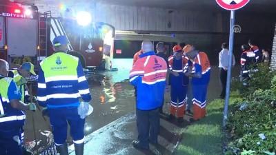 trafik yogunlugu - Sağanak, su baskınlarına neden oldu - İSTANBUL