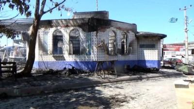 Samsun'da mescit alev alev yandı