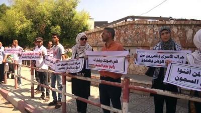 insan zinciri - Maaş kesintileri protesto edildi - GAZZE