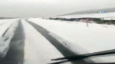 Ardahan'da yüksek kesimler beyaza büründü