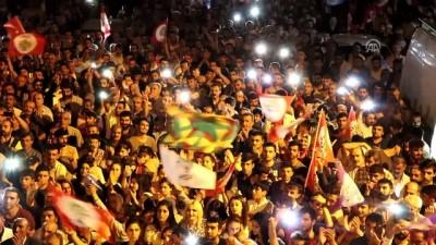 HDP mitinginde terör örgütü PKK propagandası - BATMAN