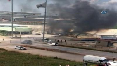 Fabrikada patlama...Ortalık savaş alanına döndü