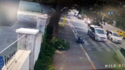 Polisten kaçan şüpheliler, motosiklete böyle çarptı