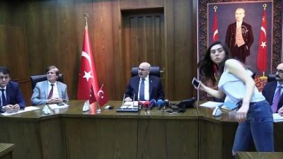 Aydın'daki toplu balık ölümleri - Vali Köşger'in basın toplantısı - AYDIN