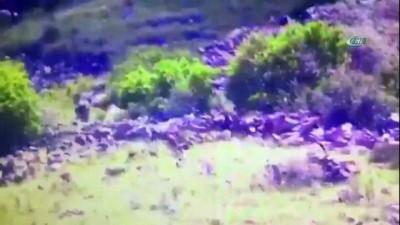 Doğubayazıt'ta etkisiz hale getirilen 5 terörist İHA tarafından böyle görüntülendi
