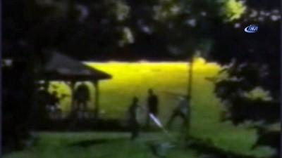 Gece geç saatlerde gittikleri parkı darmaduman ettiler
