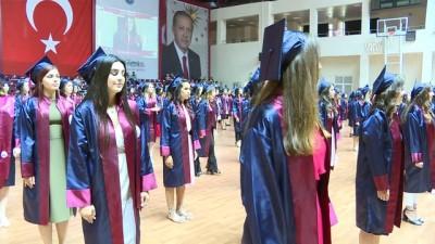 Hemşirelik bölümü mezunlarının diploma heyecanı - ANKARA