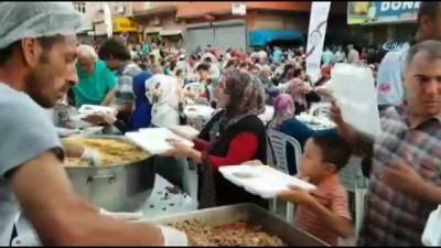 Kadirli'de 15 Bin kişi sokak iftarında orucunu açtı