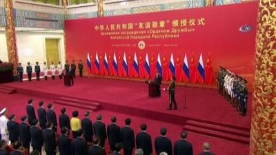 - Çin'den Putin'e Dostluk Madalyası