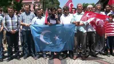 'Doğu Türkistan' protestosu - EDİRNE