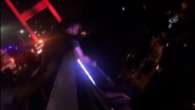 FSM Köprüsünde intihar girişimi kamerada