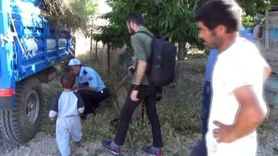 Karaman'da traktörden düşen anne ve iki çocuğunun üzerinden teker geçti