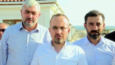 AK Parti'li Turan deprem bölgesini ziyaret etti - ÇANAKKALE