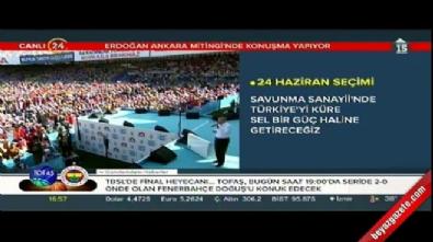 Cumhurbaşkanı Erdoğan, Ankara'da düzenlenen mitingde halka hitap etti