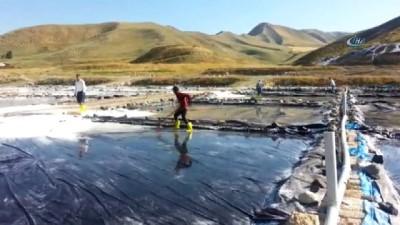 Aktuzla'da günde 120 ton tuz üretiliyor