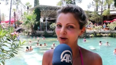 Antik havuzda kaplıca keyfi - DENİZLİ